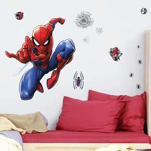 Peel And Stick Spiderman Wall Decals