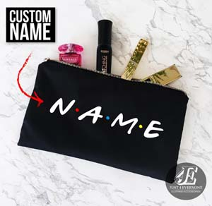 Personalized Make Up Bag Customizable Name