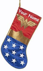 Personalized Wonder Woman Christmas Stocking