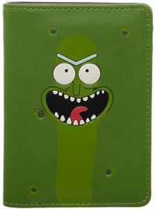 Pickle Rick Vertical Bi Fold Wallet