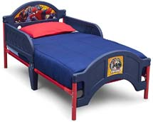 Plastic Spiderman Themed Toddler Bed