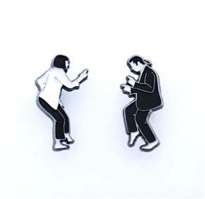 Pulp Fiction Dance Enamel Pin Set