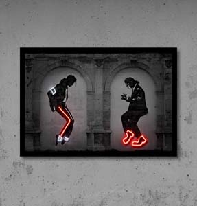 Pulp Fiction Michael Jackson Dance Neon Sign
