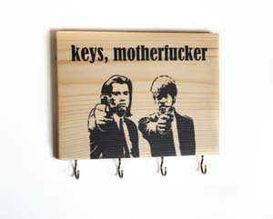 Pulp Fiction Quote Key Holder