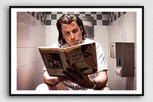 Pulp Fiction Vincent Vega On Toilet Scene Wall Art