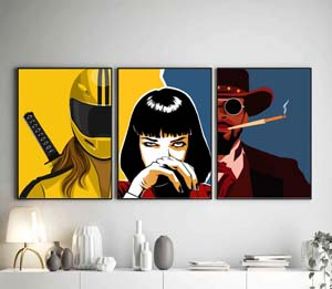 Quentin Tarantino Movies Poster (set Of 3)