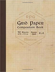 Rpg Grid Paper Composition Book