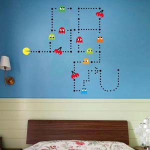Removable Pac Man Wall Décor