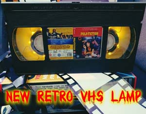 Retro Pulp Fiction Vhs Lamp