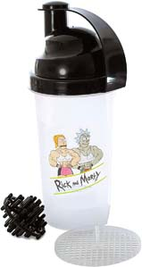 Rick & Morty Gym Shaker Bottle With Loop Top