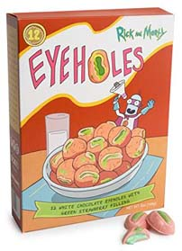 Rick And Morty Eyeholes White Chocolate Truffles