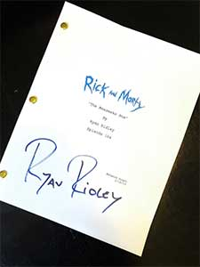 Rick And Morty Signed Script