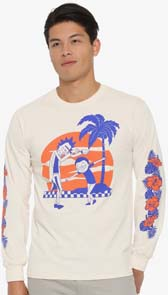 Rick And Morty Tropical Dance Long Sleeve T Shirt
