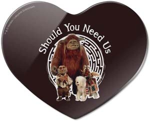 Should You Need Us Labyrinth With Ludo Hoggle And Didymus Heart Acrylic Fridge Refrigerator Magnet