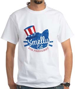 Smelly Cat For President T Shirt