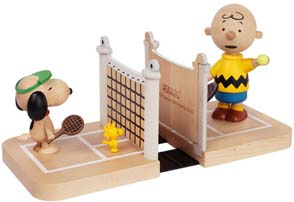 Snoopy & Charlie Brown Tennis Bookends