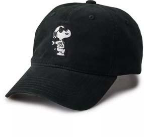 Snoopy Joe Cool Dad Hat Black