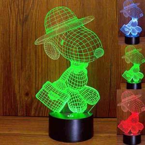 Snoopy Lamp 3d Led Nightlight