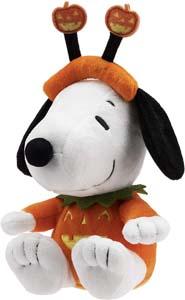 Snoopy Stuffed Animal In Pumpkin Costume