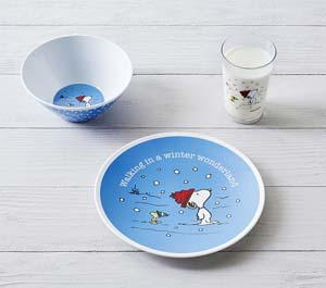 Snoopy Winter Wonderland Holiday Tabletop Gift Set