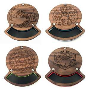 Solid Walnut Dice Coasters