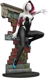 Spider Gwen Climbing Brick Wall Figure