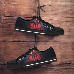 Spider Man Custom Low Top Sneakers