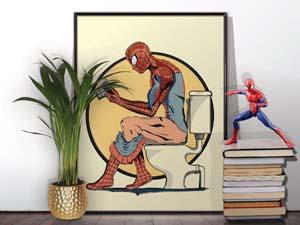 Spiderman Bathroom Poster