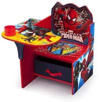 Spiderman Children Chair Desk With Storage Bin