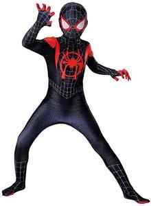 Spiderman Dar Suit For Kids Cosplay