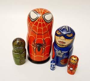 Spiderman Nesting Dolls