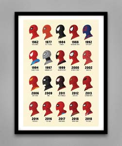 Spiderman Through The Ages Print