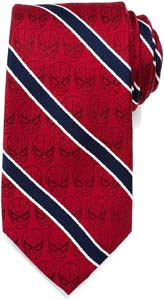 Spiderman Tie Red And Navy Stripe