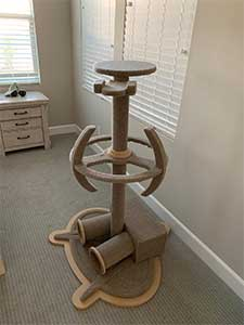 Star Trek Enterprise And Ds9 Wood Cat Tower