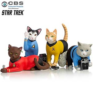Star Trek Space Cat Crusaders Cat Figurine Collection