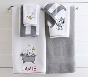 Supersoft Peanuts Bath Towel Collection