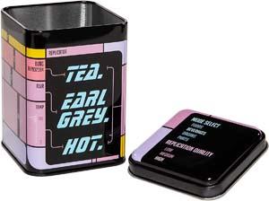 Tea. Earl Grey. Hot. Metal Tin For Loose Leaf Tea Storage