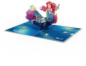 The Little Mermaid 3d Card