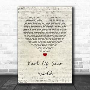 The Little Mermaid Part Of Your World Script Heart Print