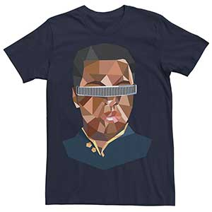 The Next Generation Geordi Low Poly Tee