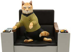 The Original Series Captain Kirk Cat Limited Edition Statue