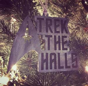 Trek The Halls Star Trek Christmas Ornament