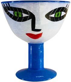 Ulrica Hydman Vallien Hand Painted Face Vase