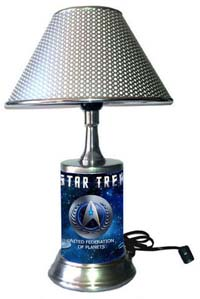 United Federation Of Planets Lamp With Chrome Finish