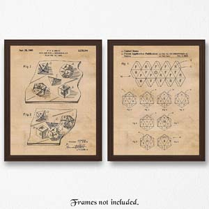 Vintage Dungeons And Dragons Dice Patent Poster Prints