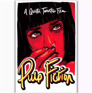Vintage Mia Wallace Pulp Fiction Poster