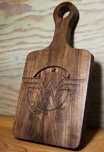 Wonder Woman Engraved Cutting Board