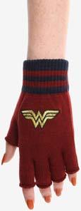 Wonder Woman Fingerless Gloves