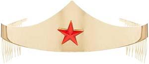 Wonder Woman Golden Tiara With Red Gem Star