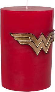 Wonder Woman Insignia Sculpted Pillar Candle